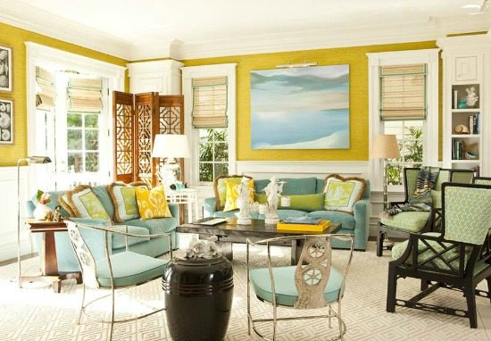 Classic Key West Design Living Room