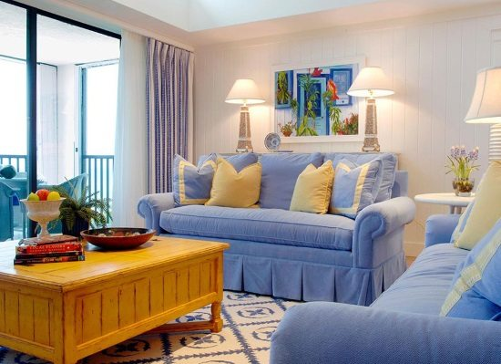 Blue and Yellow Cottage Decor