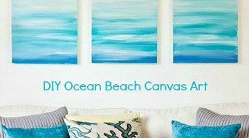 Create a Soothing Beach Vibe with Easy DIY Ocean Canvas Art