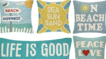 Hooked Beach Pillows