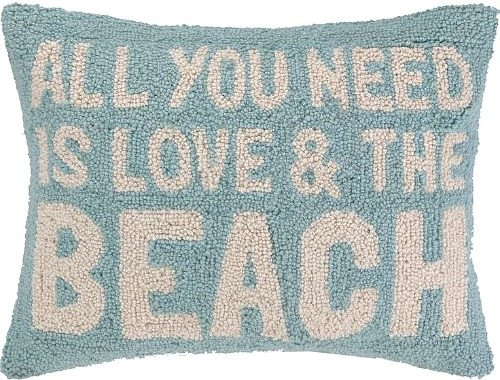 Love Beach Hooked Pillow