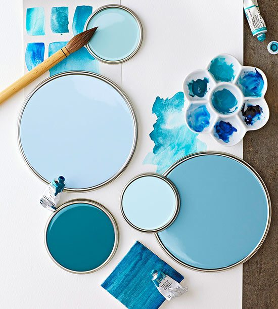 Blue Paint coastal paint color schemes inspired from the beach