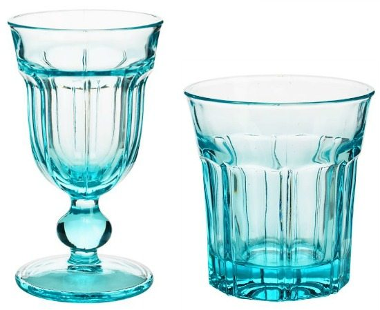 Ocean Blue Glassware Drinking Glasses