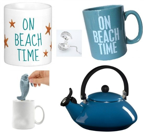 On Beach Time Mugs