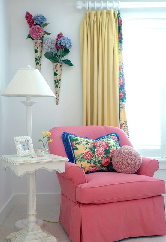 Pink Chair in Beach Cottage
