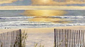 Romantic Beach Paintings by Diane Romanello