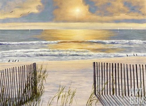 Romantic Beach Painting