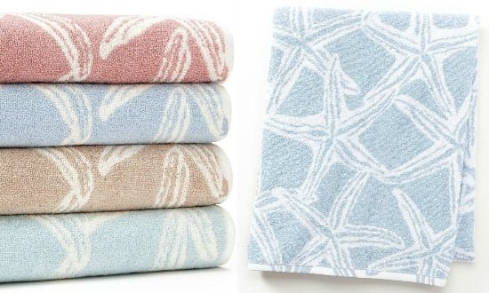 Beach Starfish Bath Towels