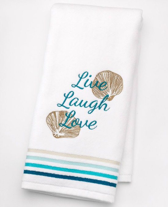Beach Word Bath Towels
