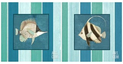 Blue Fish Prints