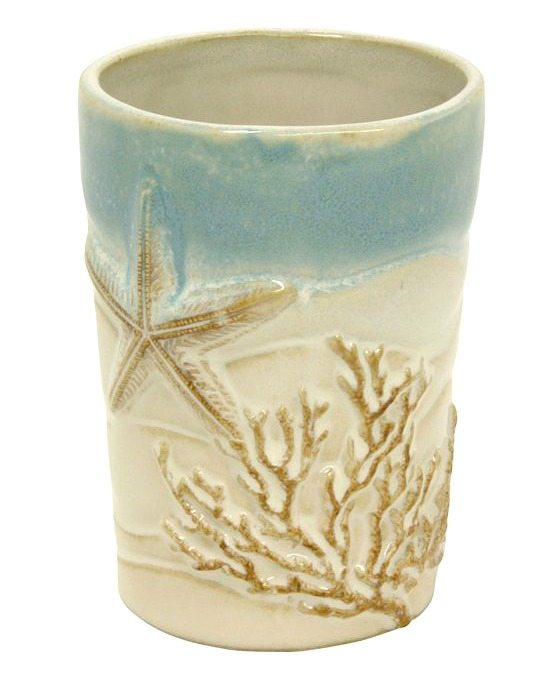 Ceramic Beach Bath Tumbler