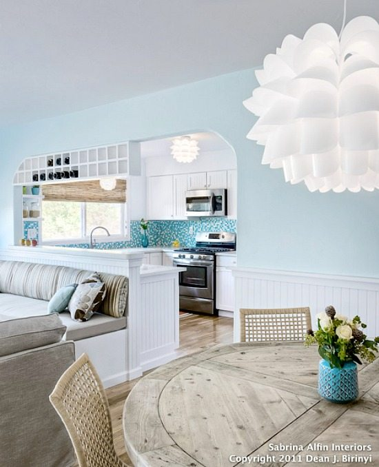 Neutral Blue Painted Walls