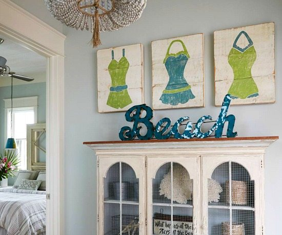 Beach Art Wall Decor And Word Sign