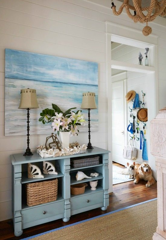Beautiful Beach House Entryway Foyer Idea