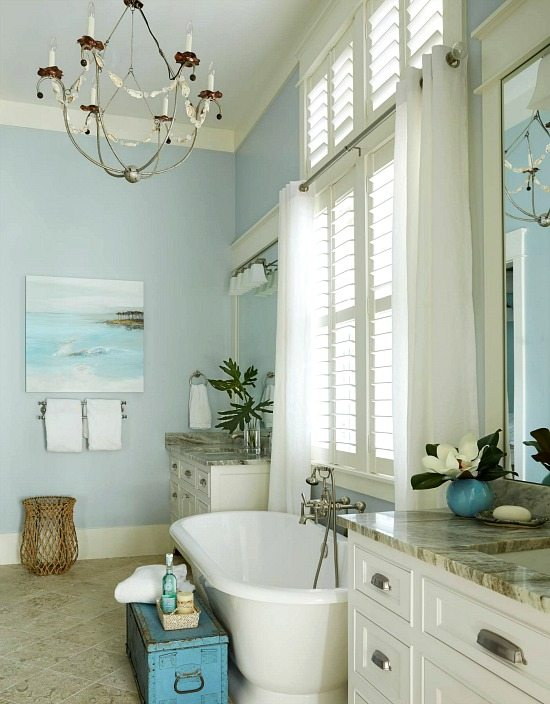 Blue Pastel Beach Bathroom