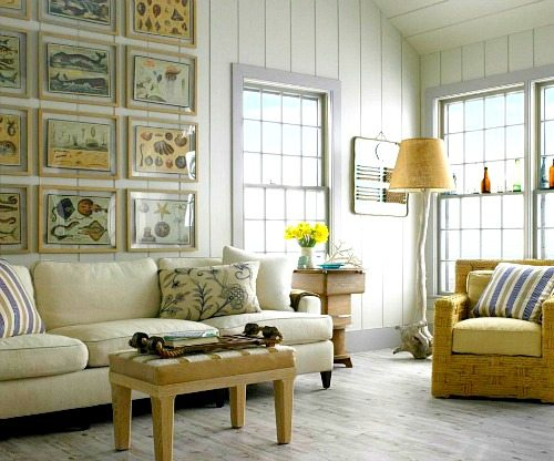 Inspiring Beach Wall Decor Ideas for the Space above the Sofa - Beach Bliss Living
