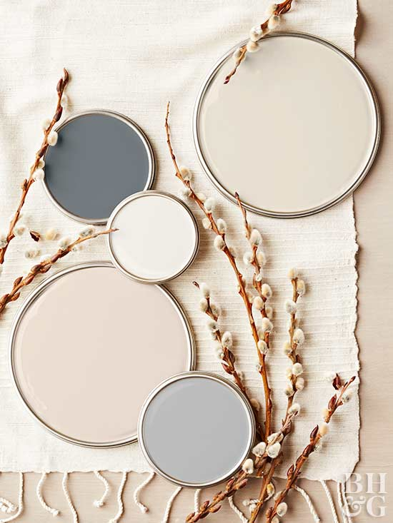 Neutral Color Palette coastal paint color schemes inspired from the beach
