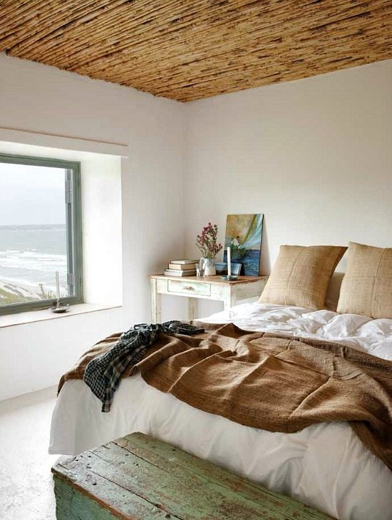 Bamboo Ceiling in the Bedroom