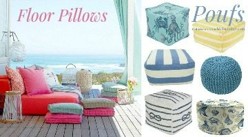 Floor Pillows & Poufs