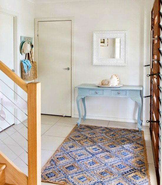 Blue Beach Theme Entryway Foyer