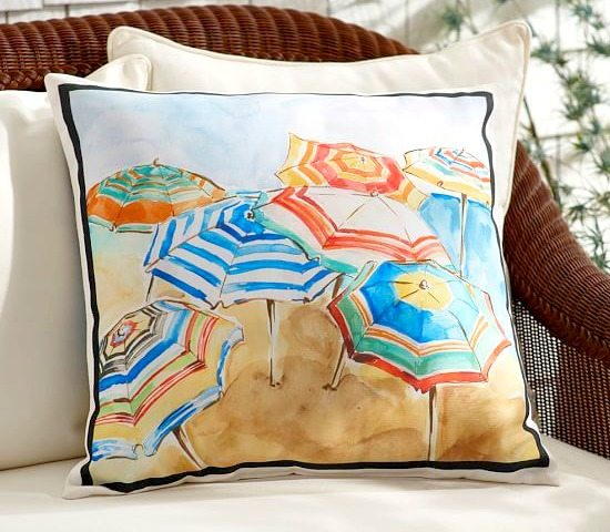 Outdoor Pillows Under 40 Sea Shells Amp Adorable Ocean