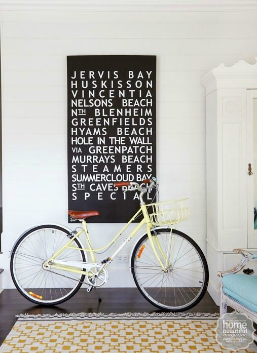 Retro Bicycle in Living Roonm