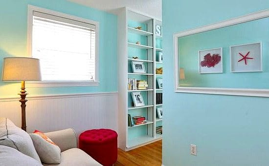 Bright Blue Painted Walls Beach Cottage Decor