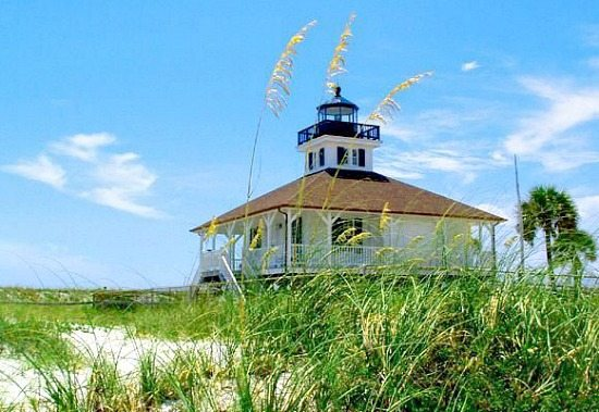 Boca Grande Lighthouse on Beach
