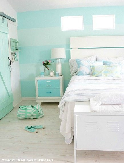 Heavenly beach cottage in pastel by tracey rapisardi Blue beach bedroom ideas