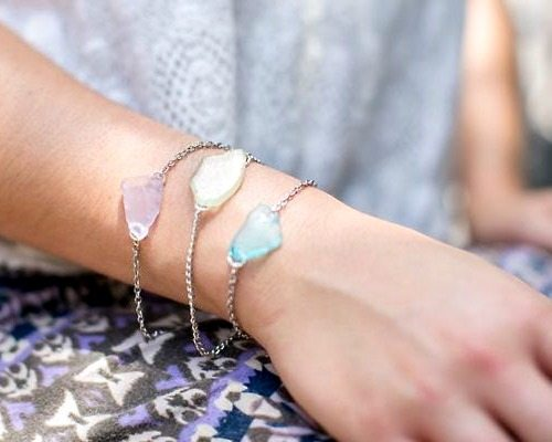How to Make Sea Glass Bracelet with Glue