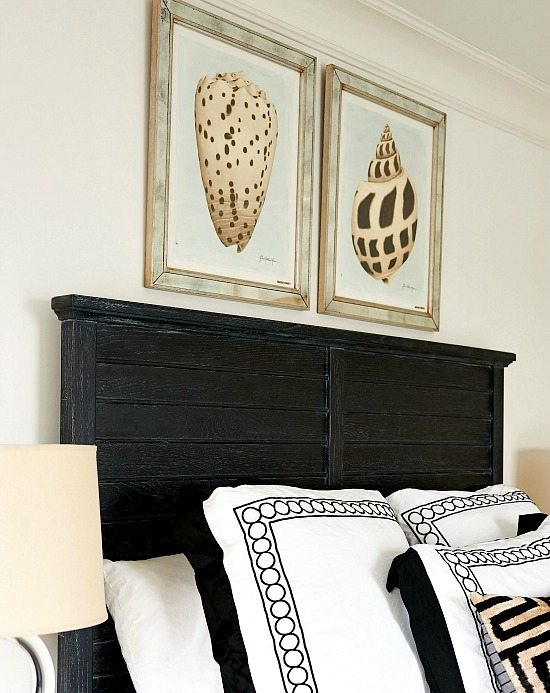 Seashell Art above Headboard