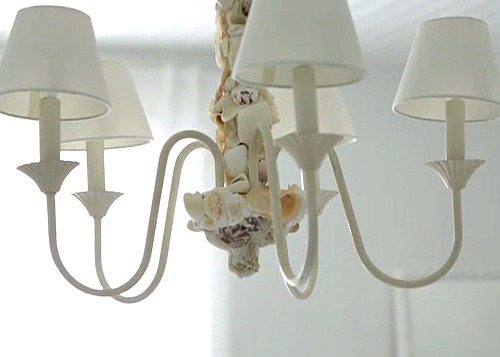 White Sea Shell Chandelier