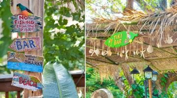 Tiki Backyard Ideas how to create a tropical tiki backyard - beach bliss living