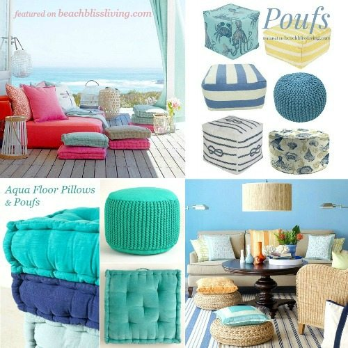 Trending | Floor Pillows and Poufs