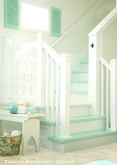 Turquoise Cottage Stairs