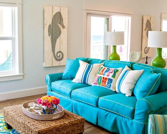 Beach Blue Sofa