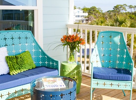 Blue Florida Porch Decor
