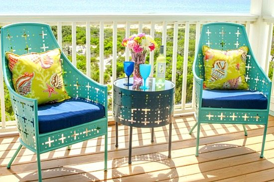 Blue Porch Chairs