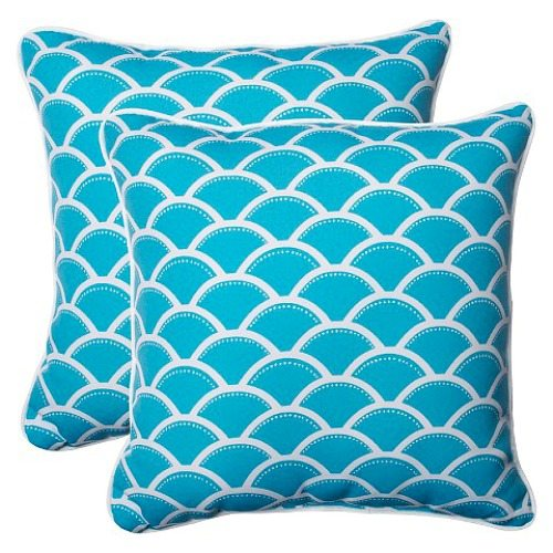 Blue Scallop Pillows