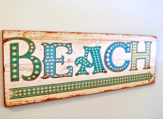 Custom Beach Wood Sign
