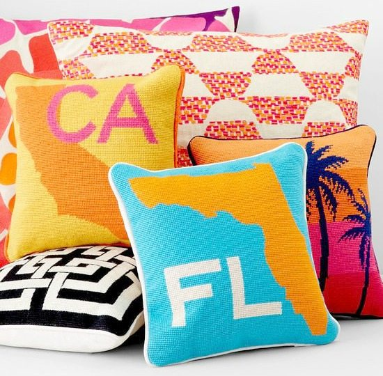 Beach Destinations and State Pillows