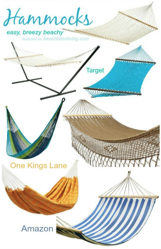 Hammocks for a Beach Porch and Backyard