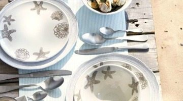 Outdoor Entertaining with Sur La Table's Beachy Seaside Collection