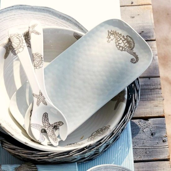 Starfish and Shell Melamine Dinnerware