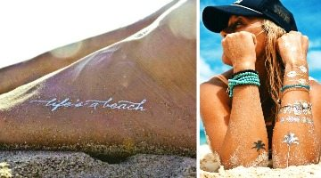 Shiny Temporary Tattoos for Beach Babes