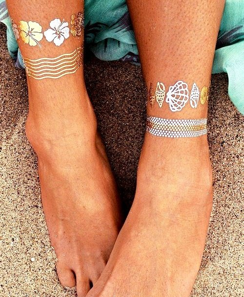Temporary Metallic Shell Tattoos
