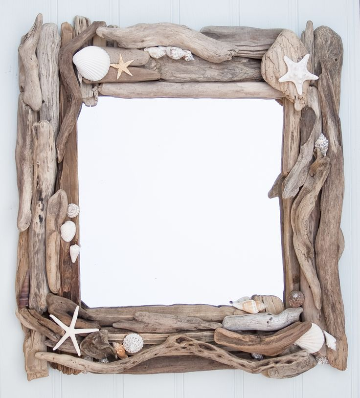 DIY Driftwood Frames for Pictures and Mirrors - Beach Bliss Living