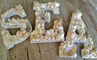 DIY Sea Shell Letters
