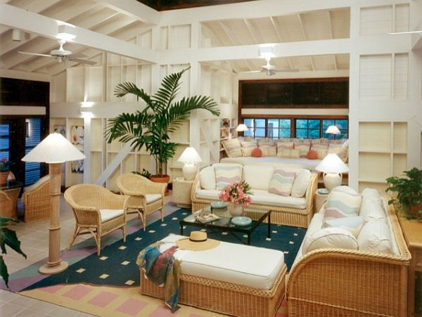 wood-framed-Island-home-caribbean-living-room