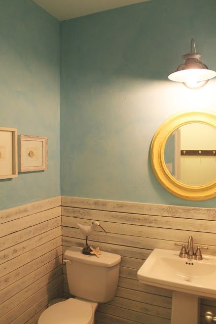 Images Of Bathroom Wall Decor : Beach themed bathrooms that will blow you away